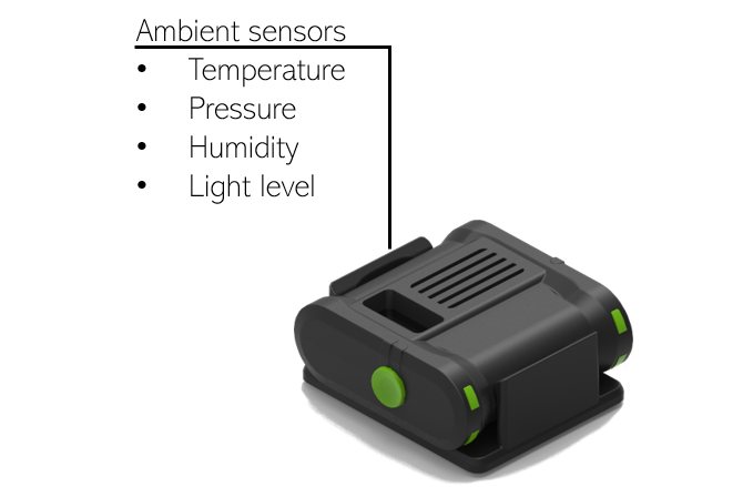 EnvironmentalSensor , the multi sensor device that measures the ambient conditions (temperature, pressure, humidity, light level) of your laboratory space.