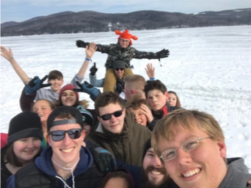 Taken smack dab in the middle of frozen Newfound Lake!