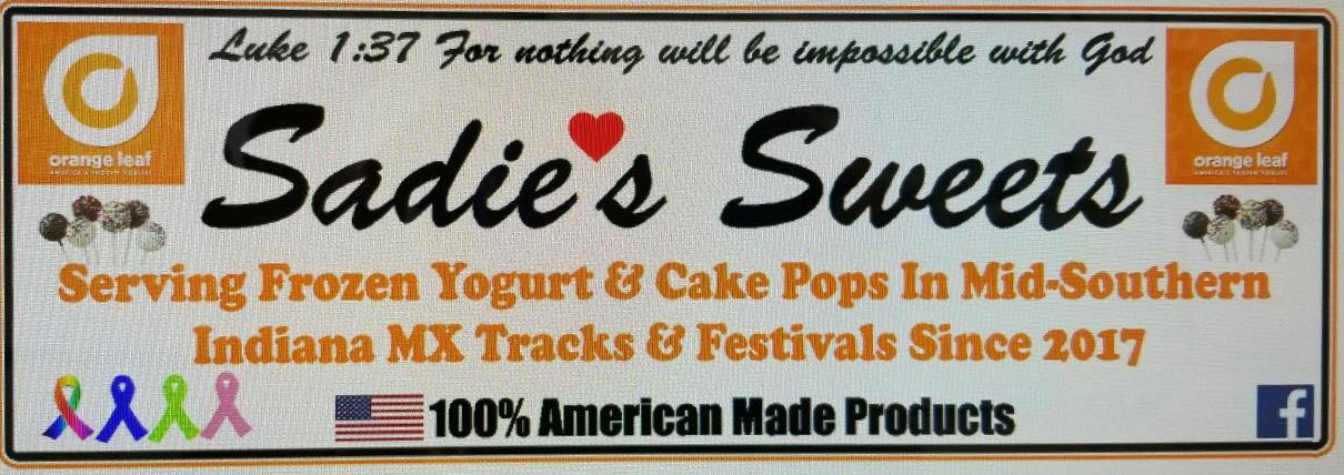 - Sadie's Sweets: A 12 year-old entrepreneur sells refreshing orange left yogurt and a variety of baked treats.