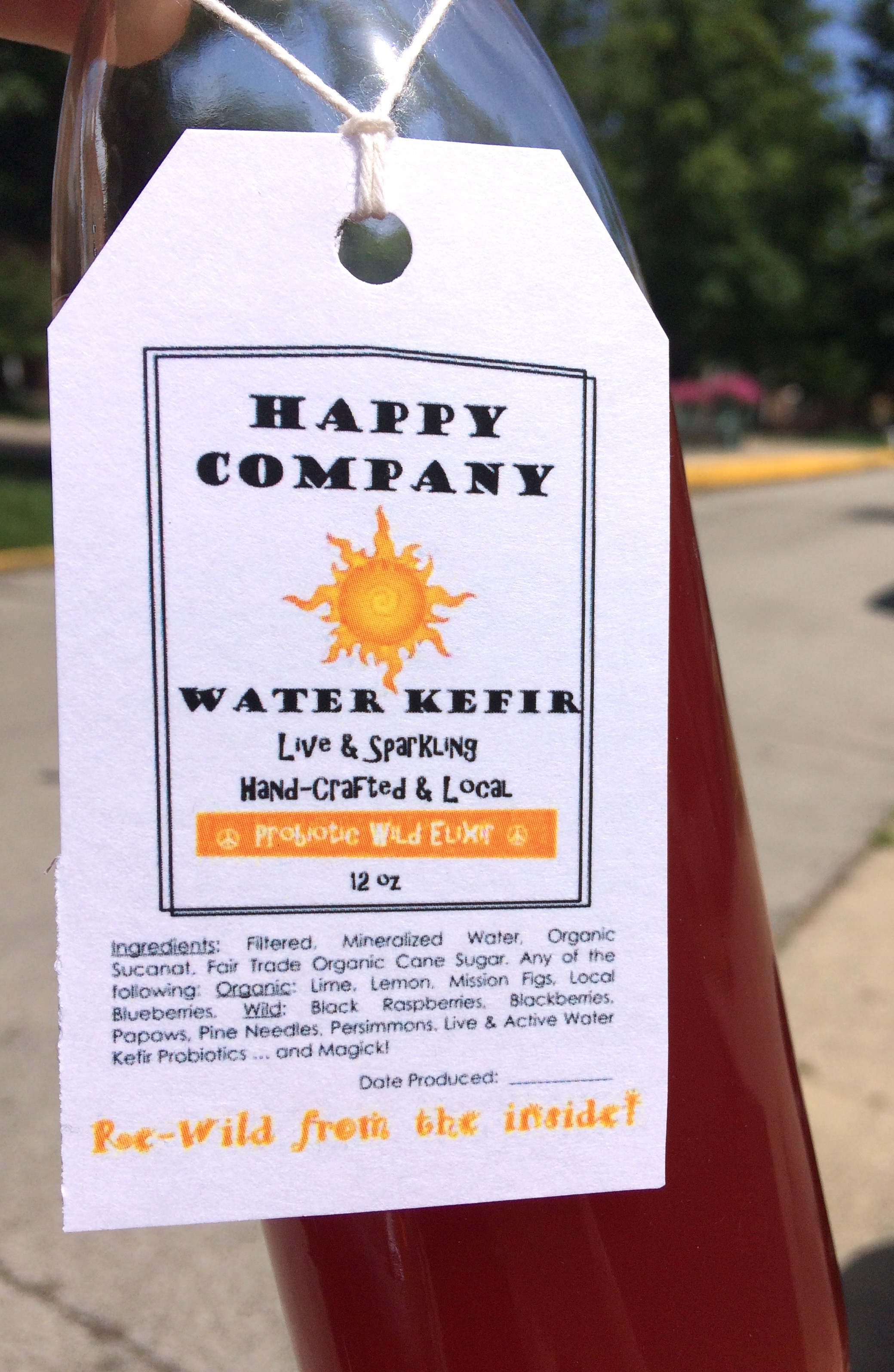 HAPPY COMPANY WATER KEFIR - Live & Sparkling, Hand-Crafter & Local