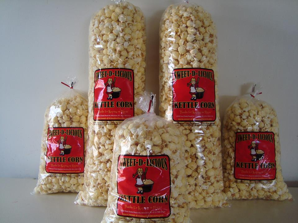 SWEET-D-LICIOUS - Sweet-D-Licious Kettle Corn, LLC is locally owned and operated in Pike County in Southern Indiana. Sweet-D-Licious Kettle Corn, LLC provides a truly great tasting Kettle Corn. We use only premium quality ingredients to produce the best Kettle Corn.