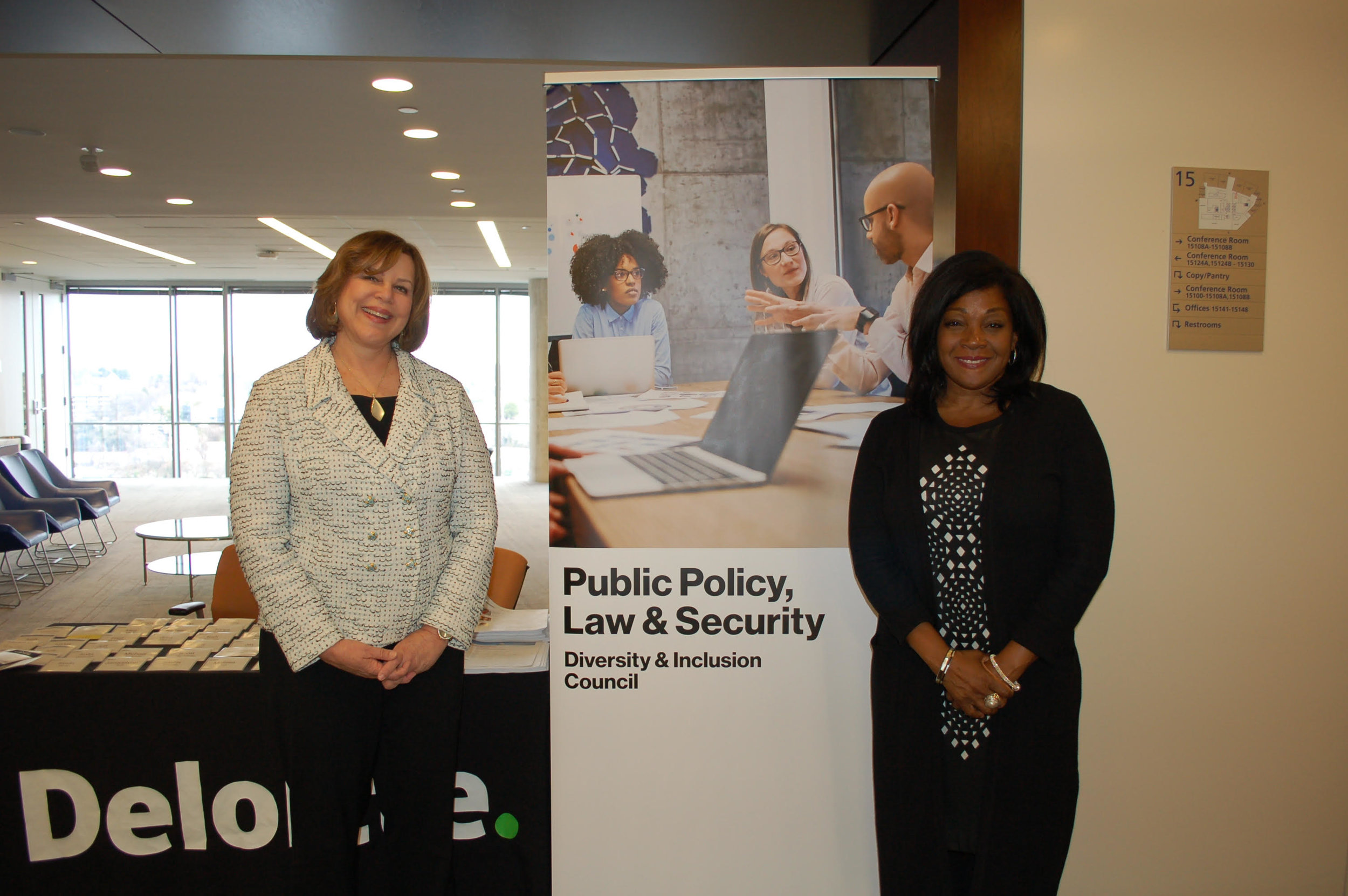 Sharon Rowen with Michelle C. Ifill, Senior Vice President & General Counsel of Verizon Corporate Services Group