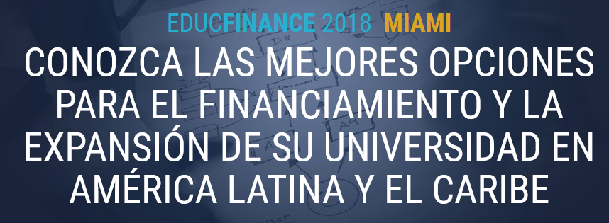 screenshot of  EDUCFINANCE 2018 website  [in Spanish and Portuguese only]