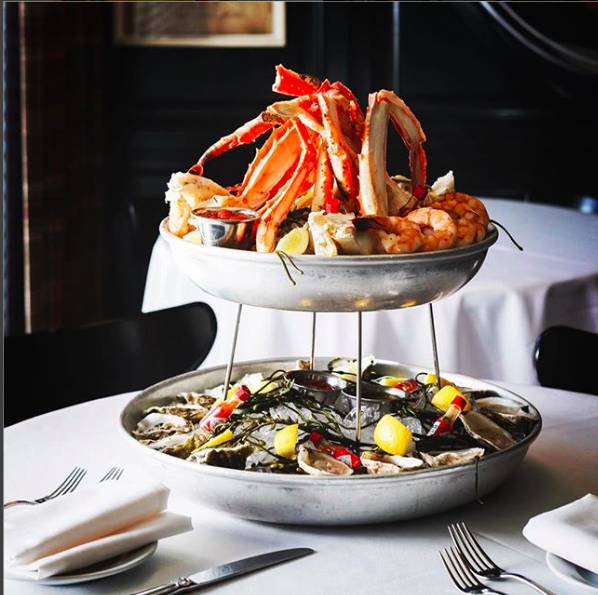 Seafood Tower at Monarch Steakhouse
