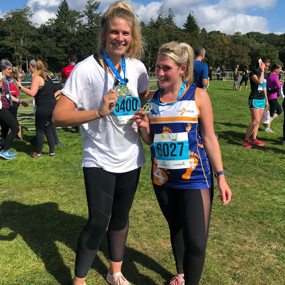 Erin (Left) with her training partner Lucy Hill who also ran the race for charity.