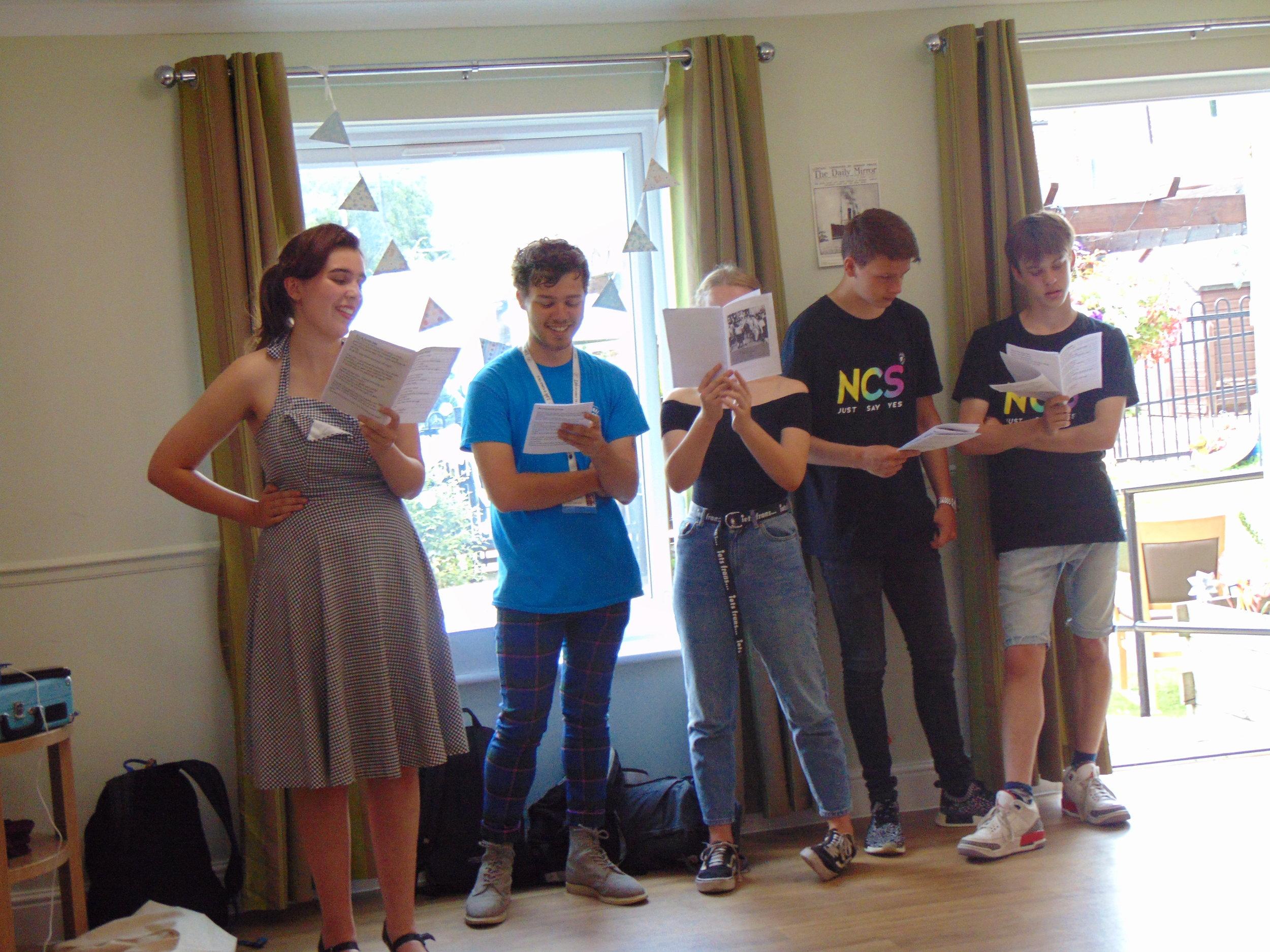 Group 2 singing performance