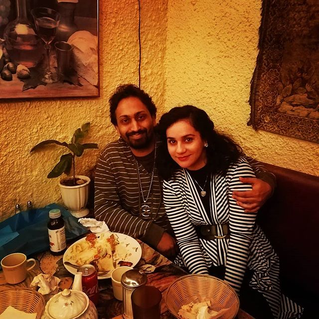 Me and my wife Hira eating some awesome dinner at Aliyans in Philly:) #family  #married  #goodfood  #southstreetphilly