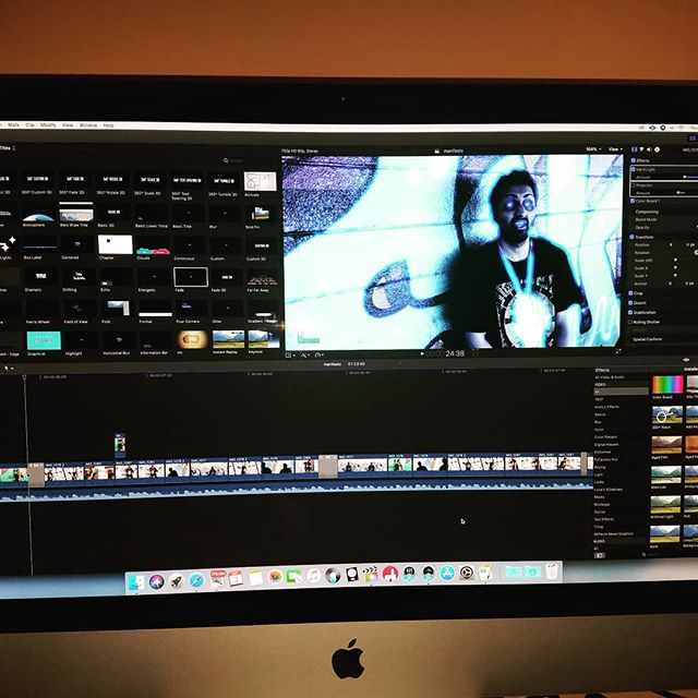 "Editing new video for ""Manifesto of death"". #finalcutpro #finalcut #videoedits #videoediting  #peoplestylewatch #screenprotectormurah #electronicsocialart #visualdisplay  #peoplearestrange #peopleofinstagram  #humandesign #humanphotography  #human_interest"