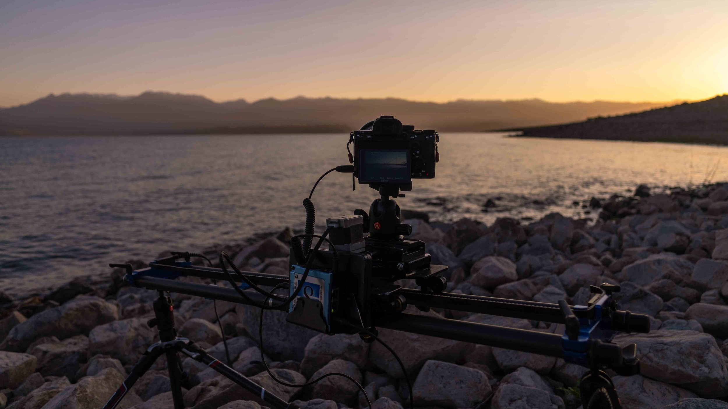 Dynamic Perception Stage One Shooting a Time lapse of the Sunrise at Toktogul