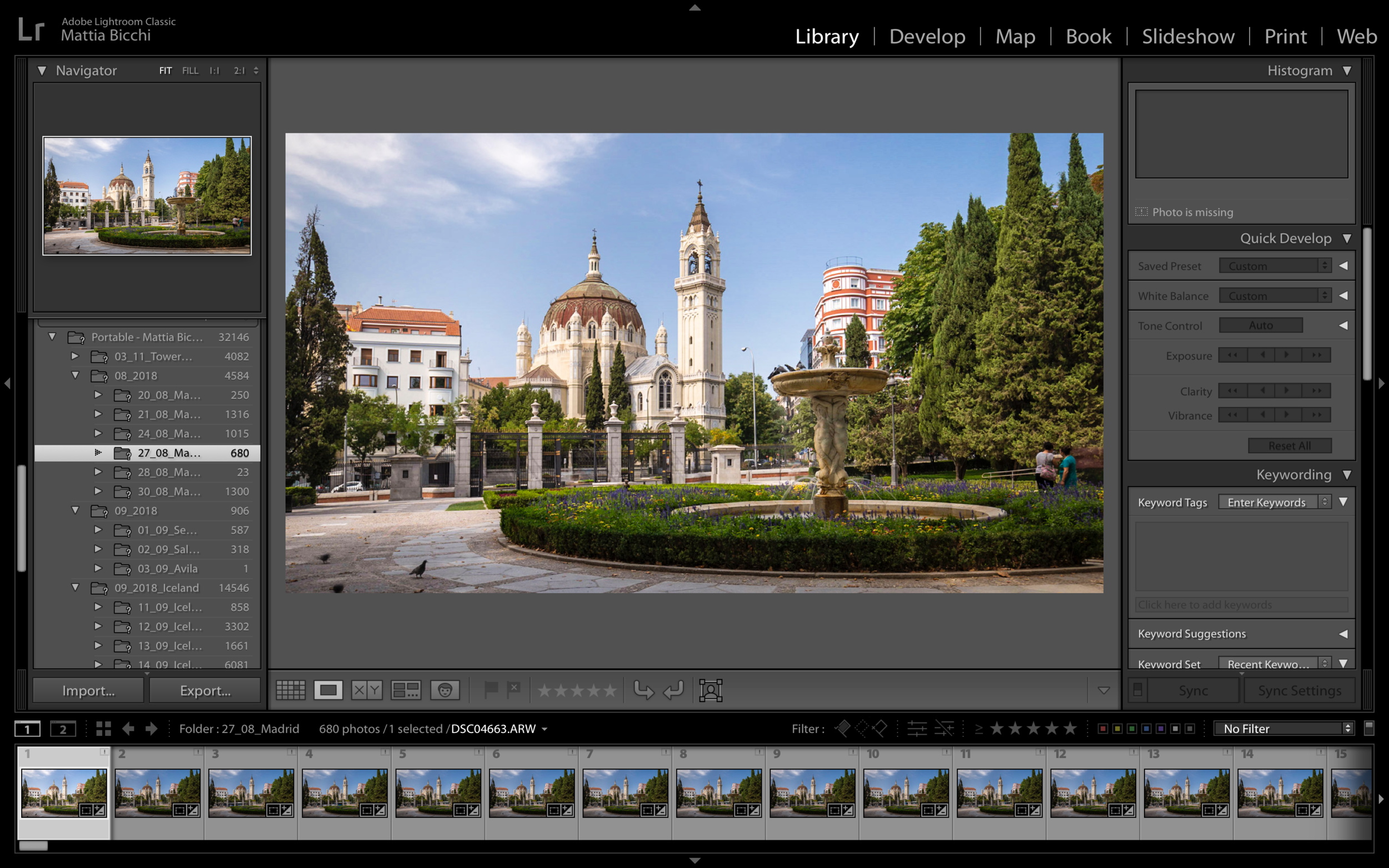 Timelapse/Hyperlapse Post Production only - If you have a sequence that you shot or you only want to learn how to edit a Timelapse, an Hyperlapse or a Holy Grail Timelapse, (Day to night - Night to Day) this workshop is for you, we will meet somewhere in the city, and while enjoying a cup of coffee, I will teach you all the post-production technique to create a beautiful Timelapse€100 - 2 hours