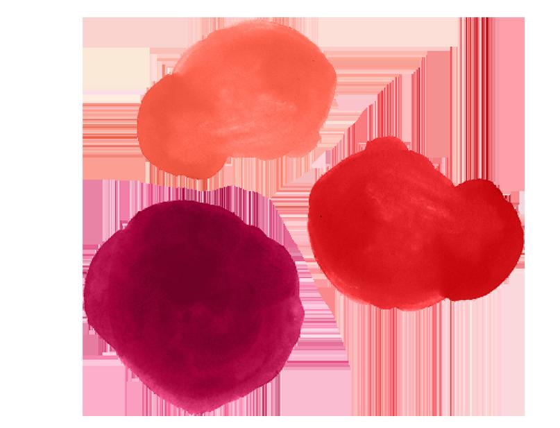 - Ruby, Cherry, Crimson, Scarlet, Sunset, Oxblood, Maroon
