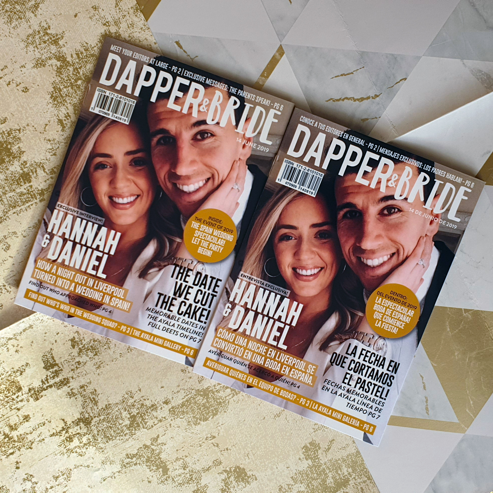 Hannah and Daniel Dapper & Bride Personalised Wedding Magazine English and Spanish Version.jpg