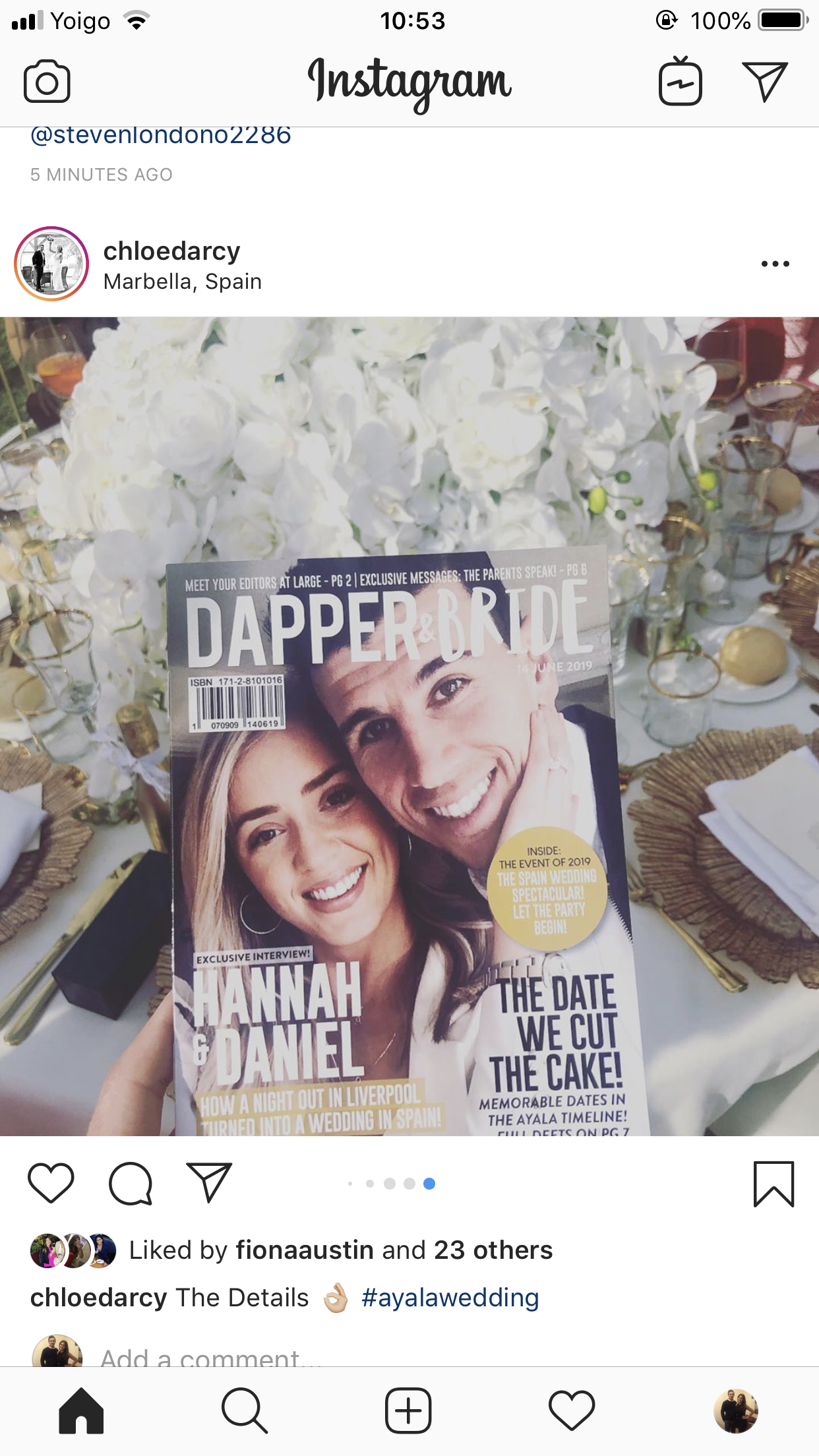 Hannah and Daniel Dapper & Bride Personalised Wedding Magazine Wedding Table Instagram Post1.png