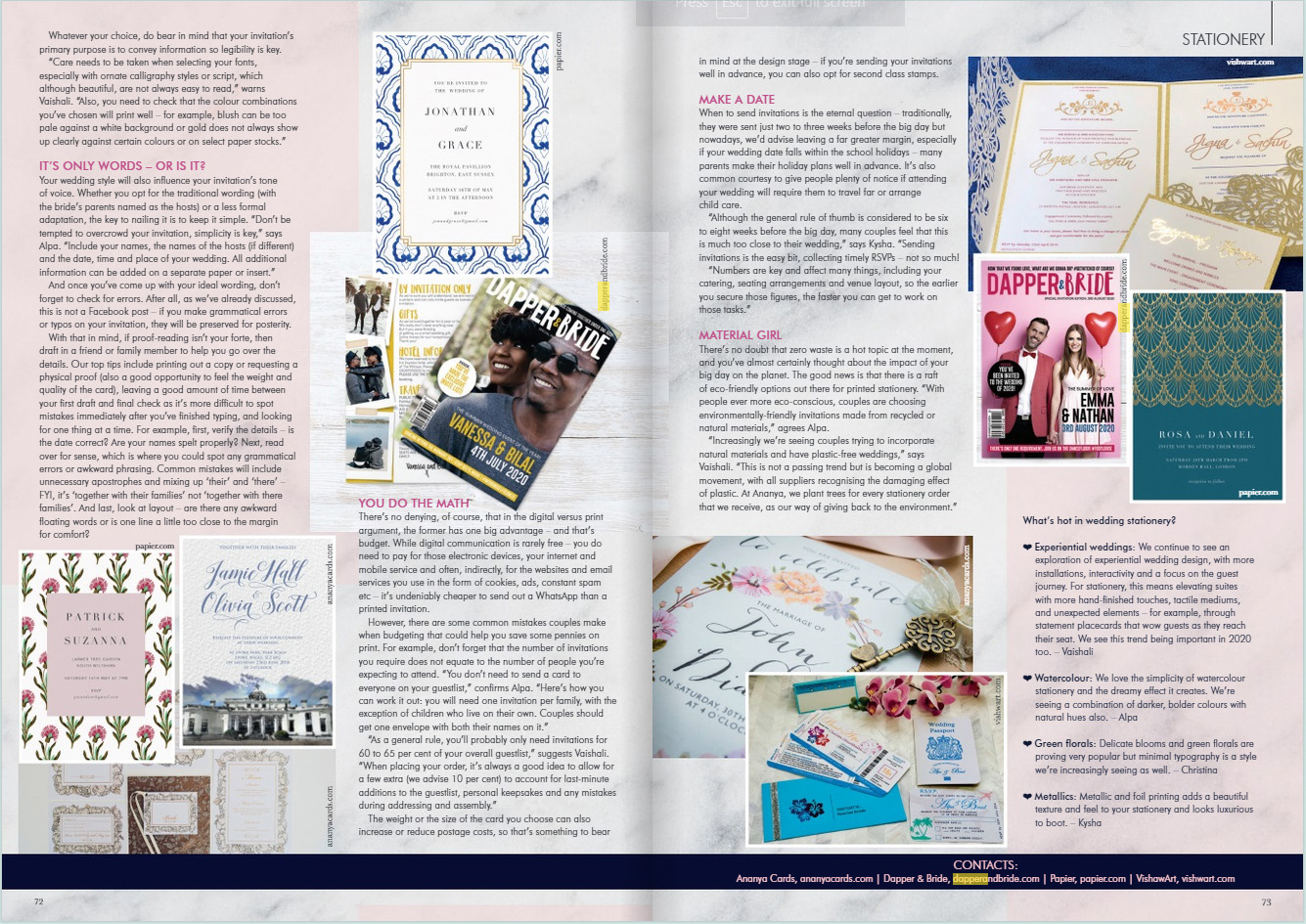 Your London Wedding Dapper and Bride Feature July 2019 pg2-3.jpg
