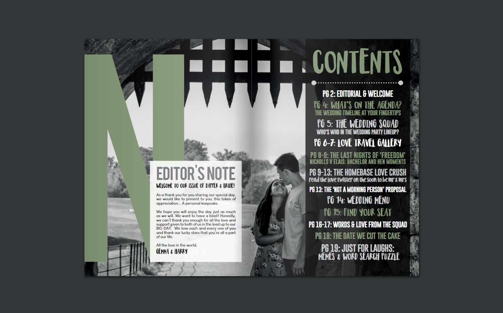 Dapper & Bride Personalised Wedding Magazine G&H Inside 1.jpg