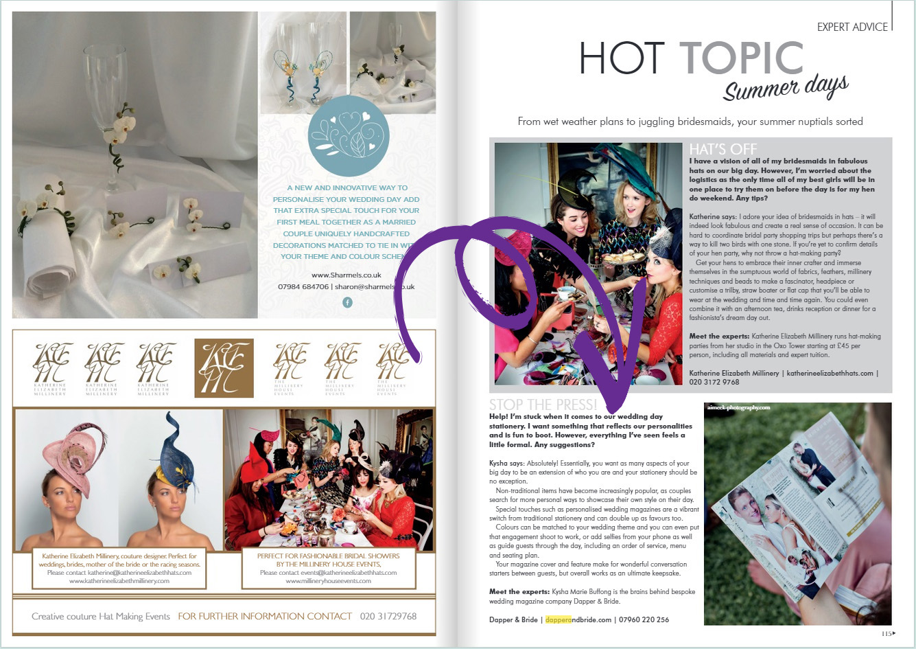 Your London Wedding Magazine - Alternative Stationery Feature