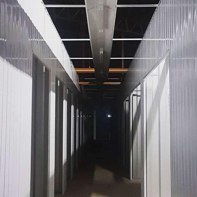Working late pushing to get this job done! #worklife #dreambig #workethic #mindset #late #construction #selfstorage #whitewoodconstruction #red #storage #steel #almostthere #workhard #drive #getitdone