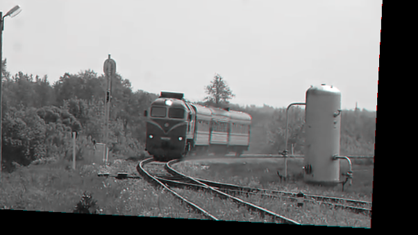Figure 3. Screenshot of one frame in the stabilized video