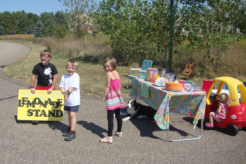 Here are the Collyard kids of West Lakeland, Minnesota holding their 2nd annual lemonade stand for 88bikes!