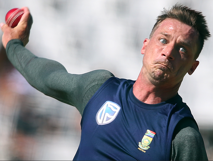 Dale Steyn during the South African national cricket team training session at PPC Newlands