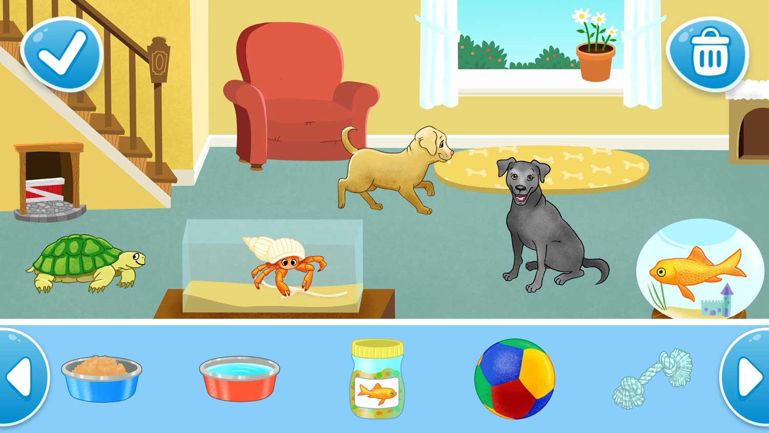Pets at home, illustrated by Delphine Henault