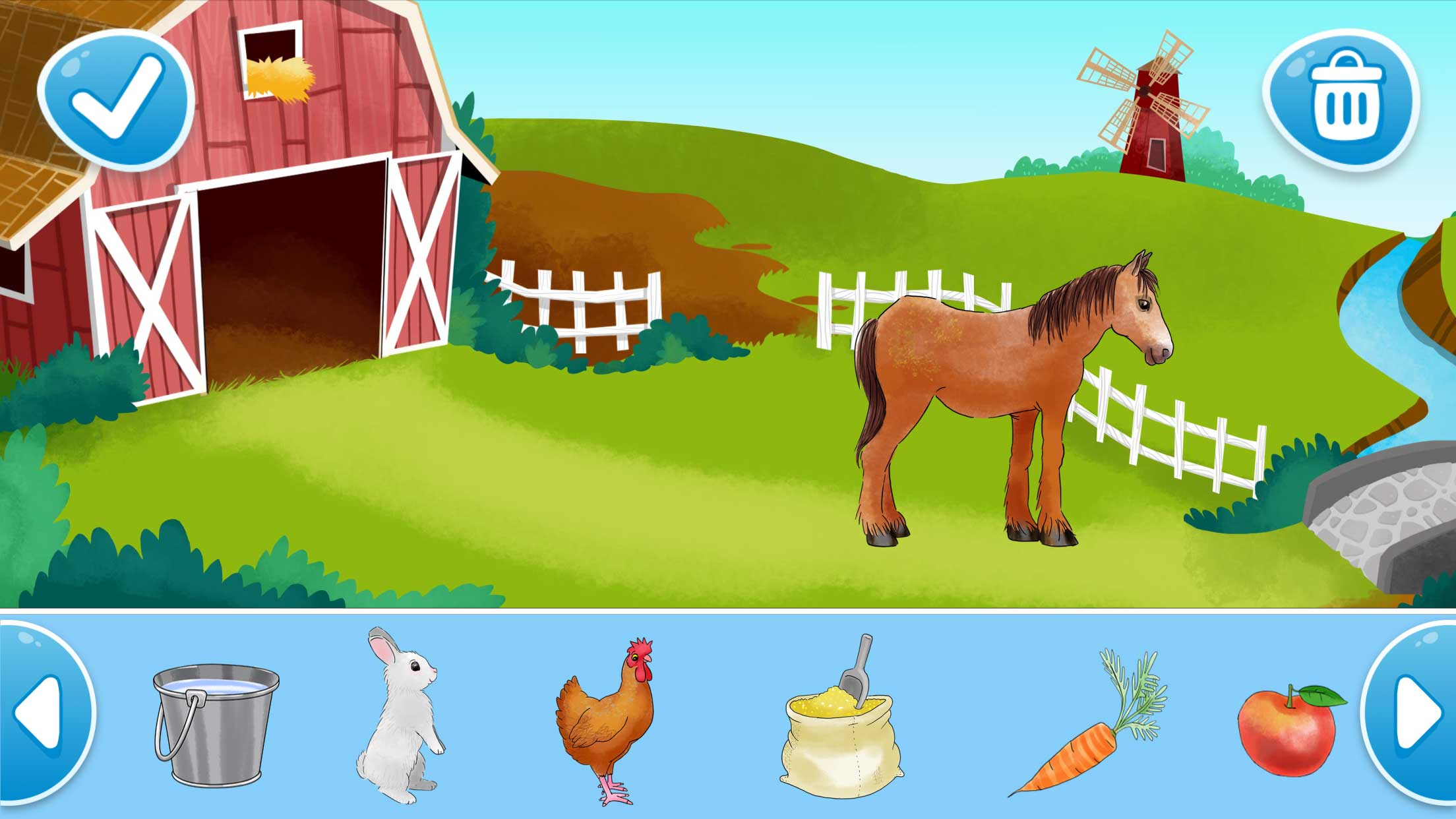 Farm Animals, illustrated by Delphine Henault