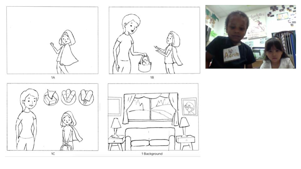 1. A freelancer or the in-house designer create sketches for initial kid-testing