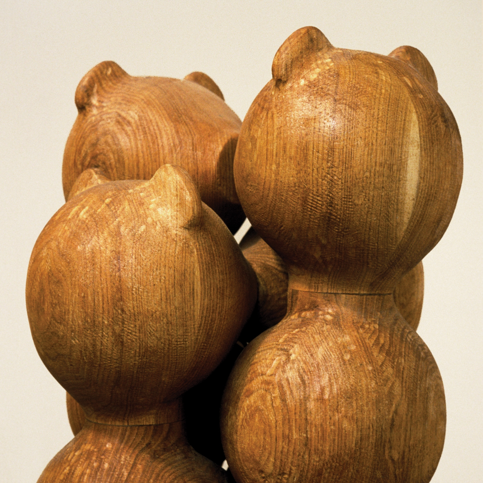 Composition à 8 baisers  |Tilleul/chêne/Noyer/170 x 130 x 40 cm