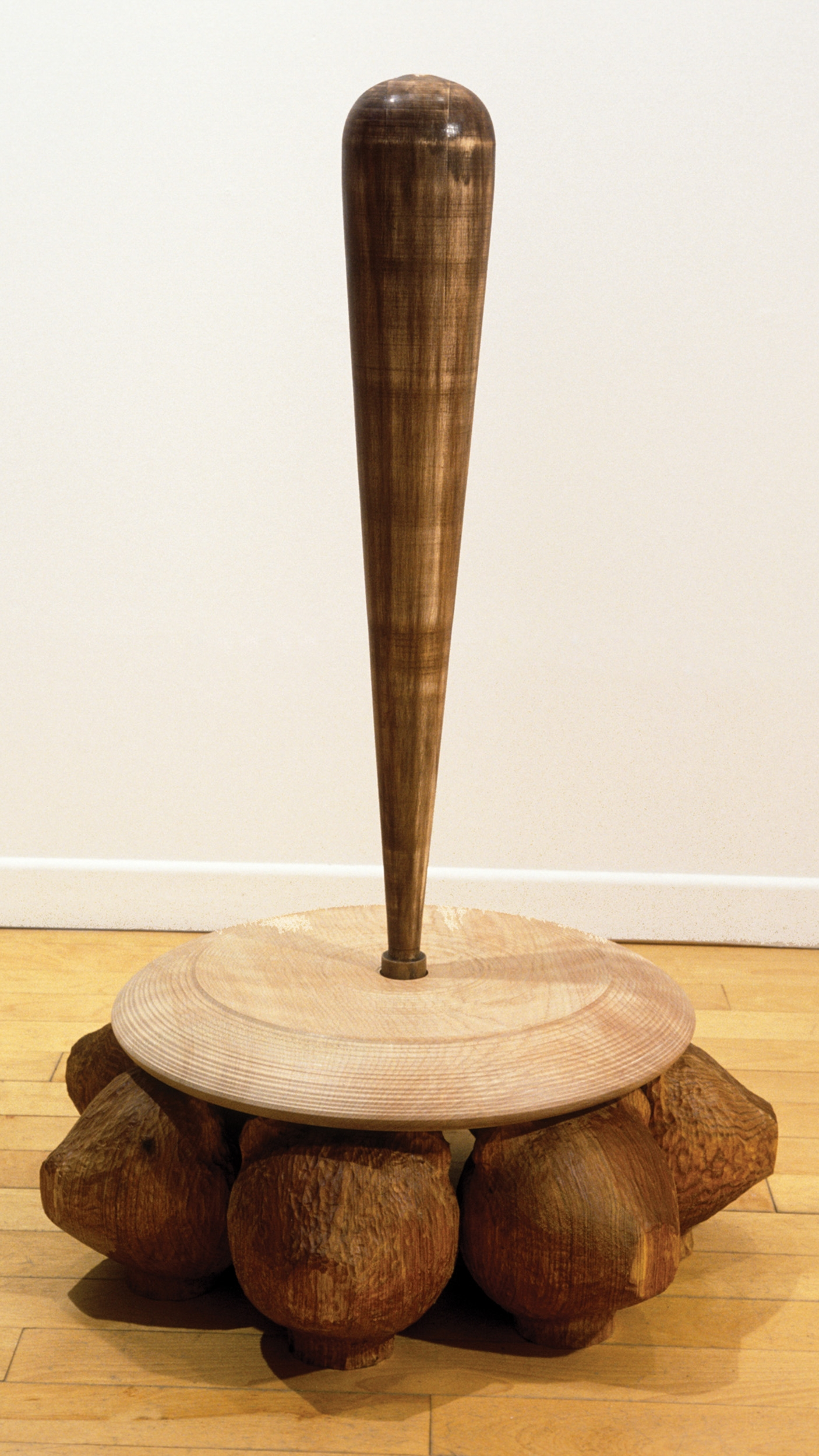 Composition ludique  |Merisier/Érable/Noyer/92 x 60 cm (diamètre)