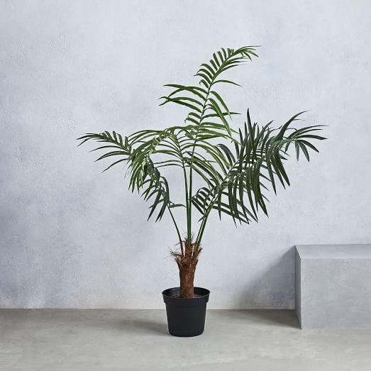 faux fan palm tree