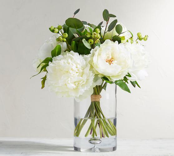 Faux Peony Bouquet