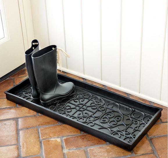 Black boot tray