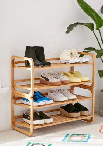 bamboo shoe organizer