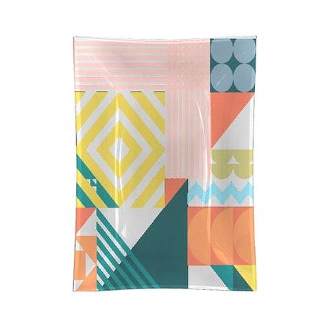 geo pastel glass tray