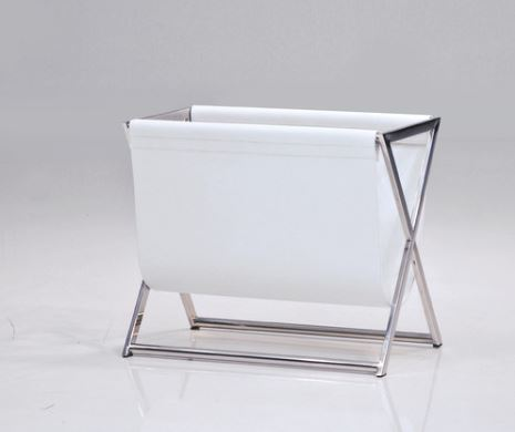 white magazine rack