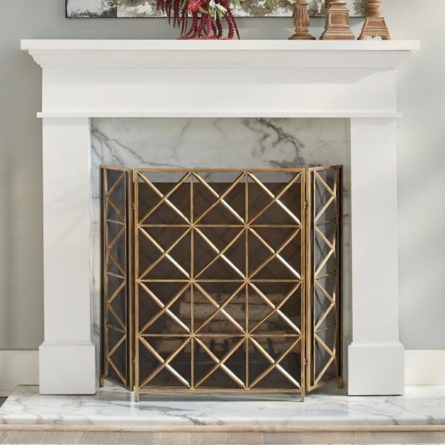 lancaster fireplace screen