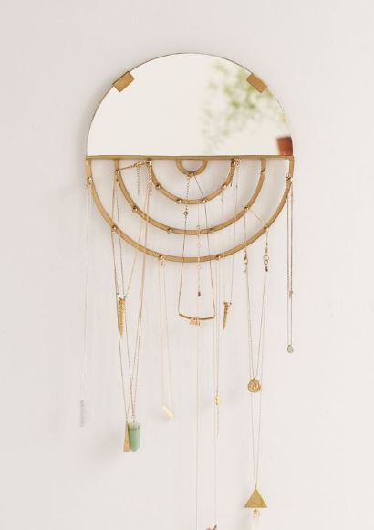 aimee hanging jewelry mirror