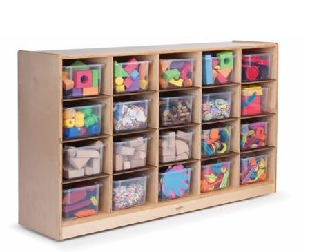 cubby tray storage cabinet