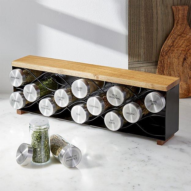 C & B metal spice rack