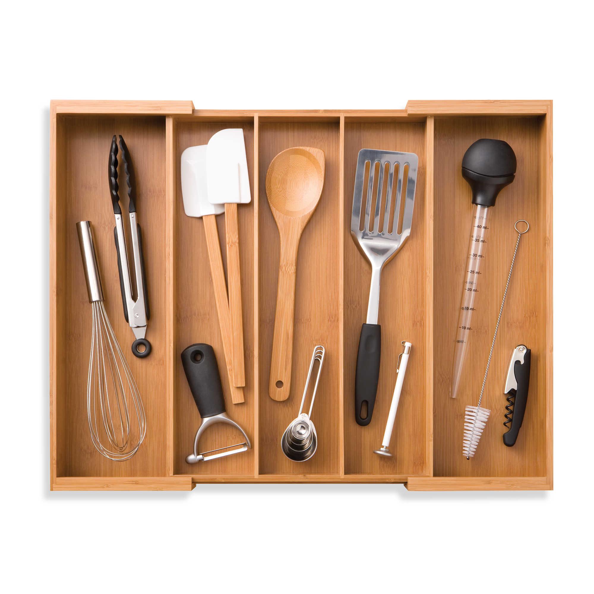 Seville expandable utensil tray