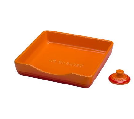 le creuset stoneware holder in colors