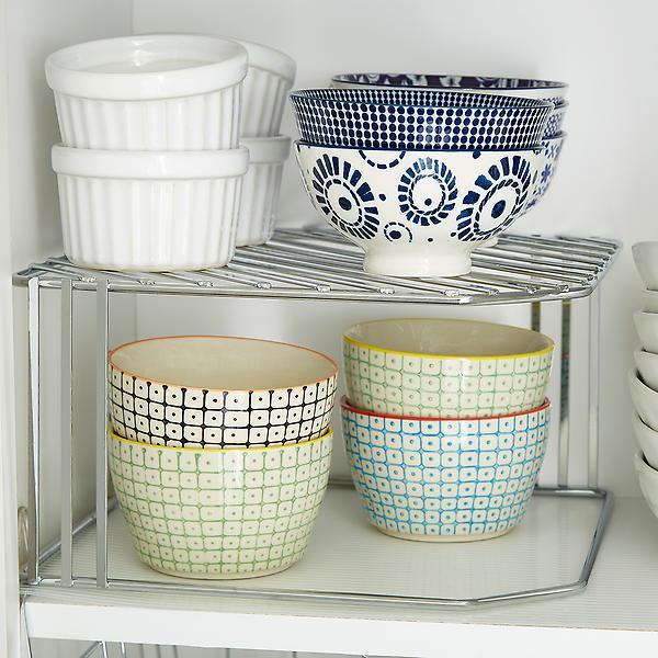 single chrome corner shelf