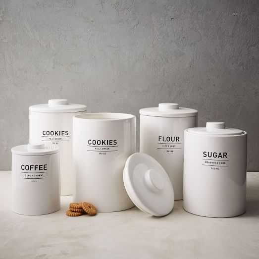 West Elm kitchen canisters