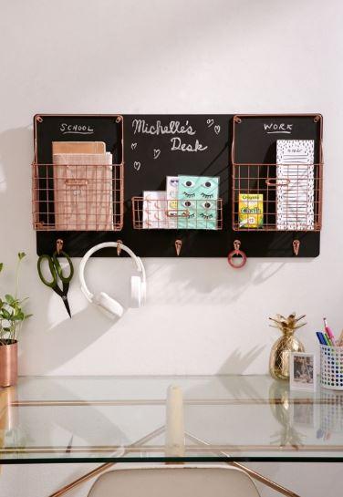 chalkboard hook organizer