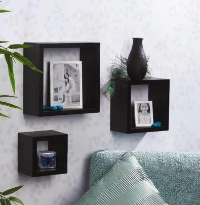 3-piece square shelf set