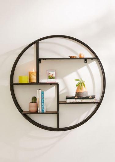 shelly round metal shelf
