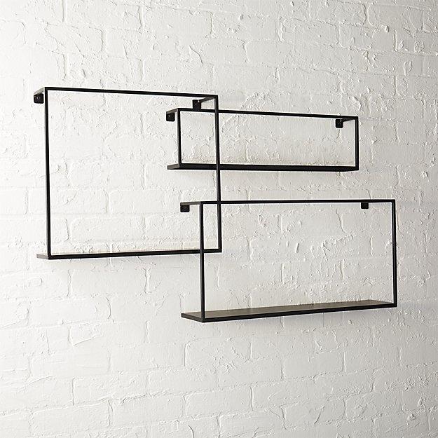 Iron floating shelves