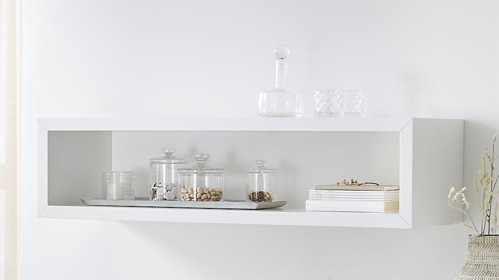 aspect white cube shelf