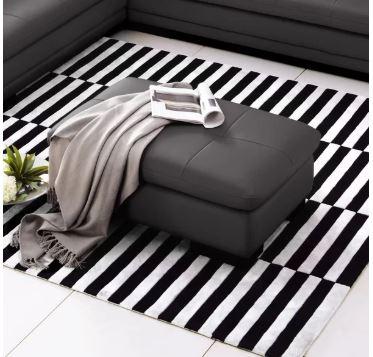 marceline leather ottoman