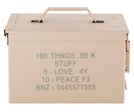 peace bullet storage box